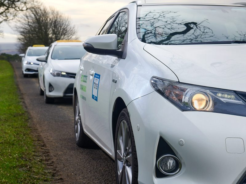 Hexham taxis electric vehicle fleet